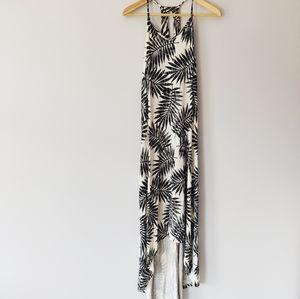 C&C California Tropical Palm Maxi Dress